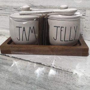 Rae Dunn JAM JELLY serving containers NEW!